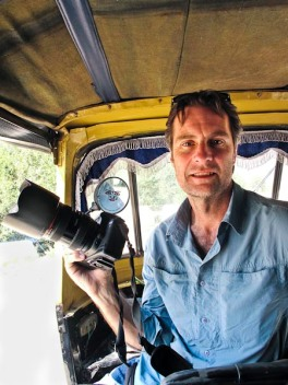 In auto rickshaw, Manali, India