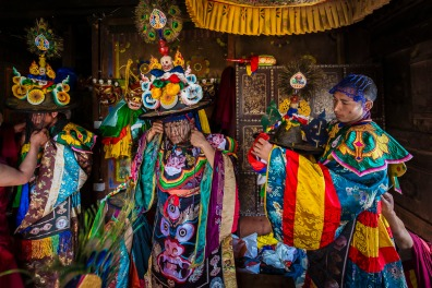 Festival preparations, Bhutan