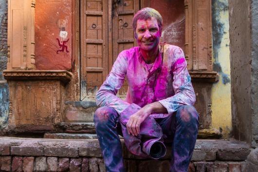 At the Holi festival, India